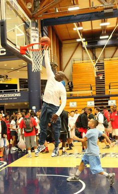 Michael Jordan dunking at 50