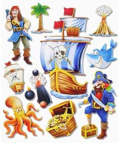 Tolle Aufkleber Baby, Kinderzimmer, Dekoartikel für Kinderzimmer, Wanddekoration, Wandsticker & Wandfiguren 3d Sticker, Donald Duck, Disney Characters, Fictional Characters, Stickers, Products, Train, Cardboard Paper, Pirates