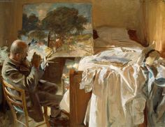 """May THE ART OF MATCHING, """"There's a marvellous painting by John Singer Sargent called An Artist in his Studio. It shows a balding man in obviously reduced."""", (image: """"An Artist in His Studio"""" c. oil on canvas, 22 x 28 inches, by John Singer Sargent – John Singer Sargent, Sargent Art, Artist Canvas, Canvas Art, Canvas Prints, Canvas Size, Art Prints, Renoir, Living In London"""