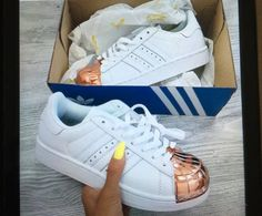 shoes adidas adidas shoes adidas superstars rose gold gold copper metallic