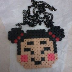 Perler bead Pucca Necklace by hamabeadssby
