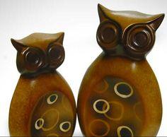EVS..pareja de buhos en ceramica animales en la ceramica - Buscar con Google