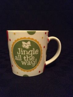 Cypress Home Holiday Christmas Jingle All The Way Ceramic Coffee Cup Mug #CypressHome