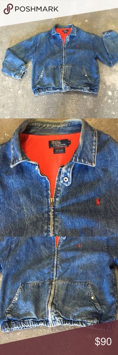 Vintage Denim Polo Jacket amazing polo jacket. size large, see photo for measurements. perfect vintage condition. very rare polo find! Polo by Ralph Lauren Jackets & Coats