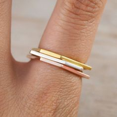 Geometric Sterling Silver And Gold Hexagon Ring