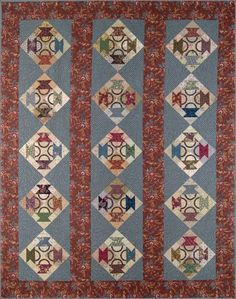 Harriet's Baskets pattern by Bonnie Blue Quilts $10.00  I like the setting for this great basket quilt
