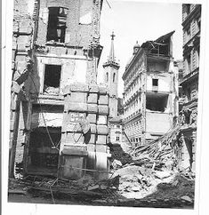 Eclectic (at Best): The Scars of War, Vienna 1947 Flak Tower, Photo Caption, Some Pictures, Destruction, Picture Show, World War Ii, Vienna, Art History, Austria