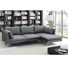 Livona Fixes sarokkanapé ágyneműtartó nélkül, balos állású, Sofa, Couch, Modern, Furniture, Home Decor, Settee, Settee, Trendy Tree, Decoration Home