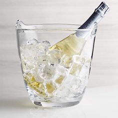 Pryce Champagne/Ice Bucket + Reviews | Crate and Barrel Champagne Ice Bucket, Champagne Buckets, Crate Storage, Wine Storage, Wine Dispenser, Wine Bucket, Wine Fridge, Bar Accessories, Crate And Barrel
