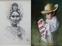 IVAN DELGADO destacado pintor que resalta nuestro folclor