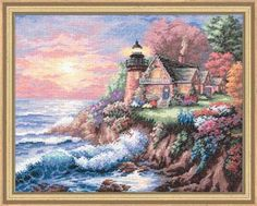 Dimensions Gold Collection Guardian of The Sea Counted Cross Stitch Kit 35090 for sale online Free Cross Stitch Charts, Just Cross Stitch, Counted Cross Stitch Kits, Cross Stitch Designs, Cross Stitch Patterns, Dimensions Cross Stitch, Cross Stitching, Sewing Crafts, Painting