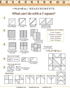 Tips & Tricks: What to do with 5-Inch Squares | Modern Square Fabrics