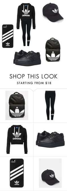 """""""adidas sport look"""" by merel-meuleman on Polyvore featuring adidas and Topshop"""