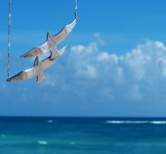 Sterling Silver Seagullls by sophiesimone on Etsy, $93.00