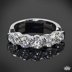 Razzle dazzle me perfect - This Custom 5 Stone Shared-Prong Diamond Wedding Ring is set in platinum and holds 5 gorgeous 0.40ct A CUT ABOVE® Diamonds.
