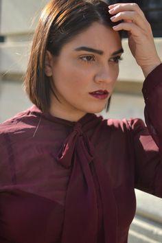nadia aboulhosn: Monochromatic Burgundy