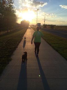 Claudia, one of our Accounting Specialists, walks her dog in her Miracle Marathon t-shirt to raise money for our local Children's Miracle Network Hospital.