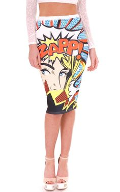 "Print : ZAPP! Face Comic. Approx Length : 27"" ( 69 cm ). Material : 95% Polyester 5% Elastane. Care : Machine Washable. 