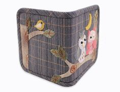 Owl Fabric Purse DIY Homemade Wallet Sewing Project by TheSewShow