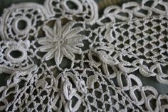 Incredible Irish Crochet HDMD jabot Lace Antique Trim Dolls A27 10 | eBay