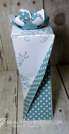 Stamp & Scrap with Frenchie: Twisted Box with 8½ x 11 and some Designer paper