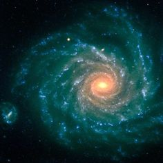 Spiral Galaxy NGC 1232 - The central region contains older stars...