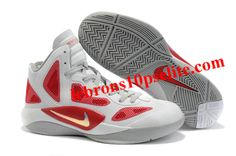 b2f7b1c68861 Nike Zoom Hyperfuse 2011 White Varsity Red Metallic Silver