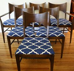 Mid century modern dining chair set from the Broyhill Saga collection