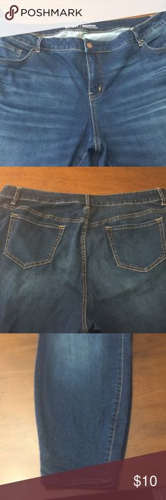 Old Navy Rockstar High Rise Jeans These are high rise so they fit a little different than I liked but they are super cute and would be great with boots. Old Navy Jeans Straight Leg