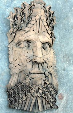 Triton origami mask par origamijoel sur Etsy