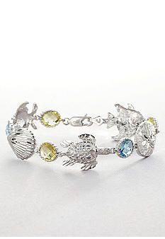 Belk & Co. Sterling Silver Multi Gemstone Sea Life Bracelet #belk #accessories