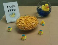 Goldfish snack for a Duck baby shower. Party decorations for a boy baby shower. - Goldfish snack for a Duck baby shower. Party decorations for a boy baby shower. Ducky Baby Showers, Baby Shower Duck, Rubber Ducky Baby Shower, Elephant Baby Showers, Baby Shower Party Favors, Baby Shower Cakes, Baby Shower Gifts, Baby Favors, Baby Shower Decorations For Boys