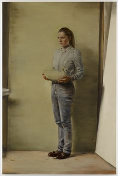 Michael Borremans Girl with Duck 2011 Love Painting, Figure Painting, Michael Borremans, Wilhelm Sasnal, Luc Tuymans, Portraits, Contemporary Paintings, Cool Artwork, Figurative Art