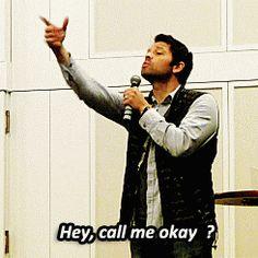 "Fan: ""MISHA!"" Misha: ""WHAT?"" Fan: ""BYE!"" And then, ^"
