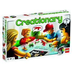 Creationary-- like Pictionary but with Lego!!  So cool.  You could make your own cards... K boys would LOVE this