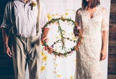 Décoration boho / hippie chic - Inspiration pour un mariage bohème. Peace and Love