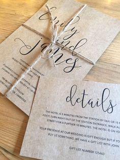 Sample running order wedding invitations
