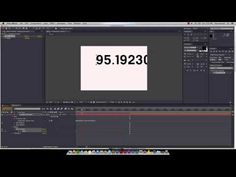 After Effects Animated Number Count - YouTube