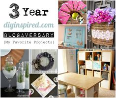 Three Year Blogaversary - My personal favorite projects #repurpose #upcycle #craftideas #diy