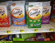 Baby flavored goldfish? Huh