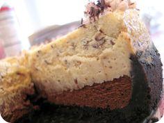 Triple layer Coffee Toffee Chocolate Cheesecake