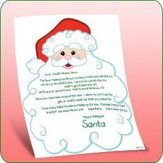 Free Printable - From Santa - Santa's Beard