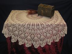 crocheting tablecloths | Free Crochet Tablecloth Patterns - Easy Crochet Tablecloths