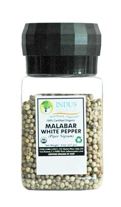 White Peppercorns with Grinder
