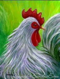 folk art rooster - Google Search
