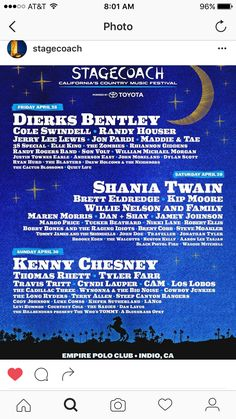 Wow!!! What a line up!! Cannot wait for Stagecoach 2017!!!!