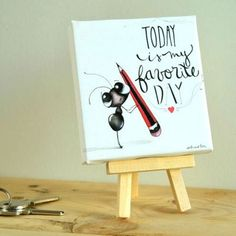 CUADRO FRASE TODAY 10X10cm Ants, Diy, Home Decor, Canvases, Push Gifts, Do It Yourself, Homemade Home Decor, Bricolage, Ant