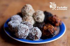 Kuchařka ze Svatojánu: ČOKOLÁDOVÉ KULIČKY Cereal, Muffin, Vegan, Cookies, Chocolate, Breakfast, Desserts, Food, Crack Crackers