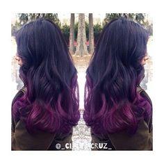 Purple ends, Ombre