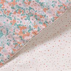 Parure de lit Little Flower 140 x 200 cm - Corail